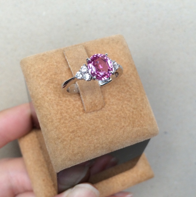 pink sapphire engagement ring singapore