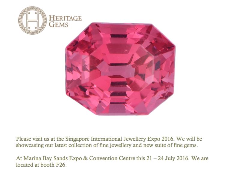 SIJE Heritage Gems 2016