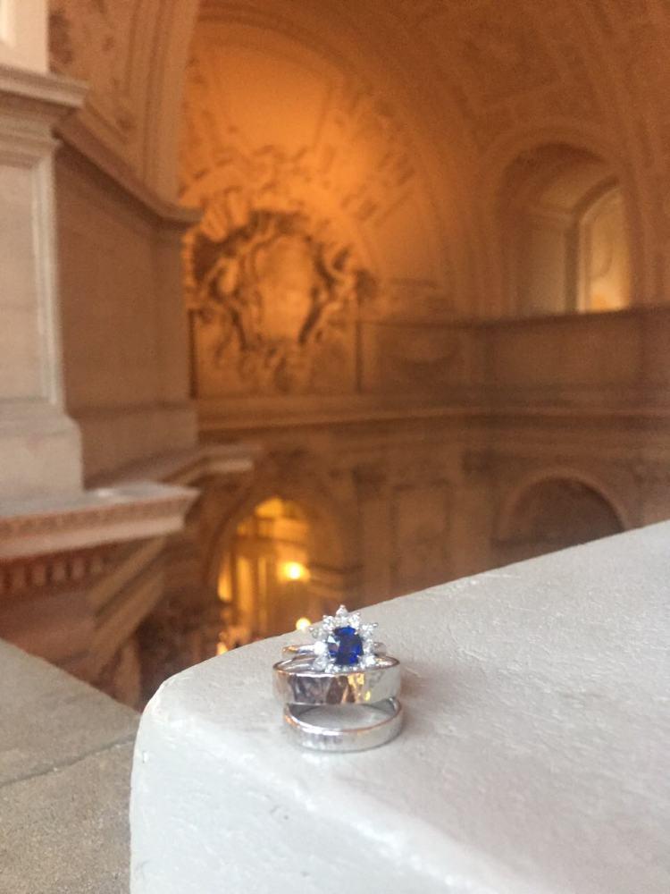 Wedding Bands Sapphire Ring San Francisco Cityhall