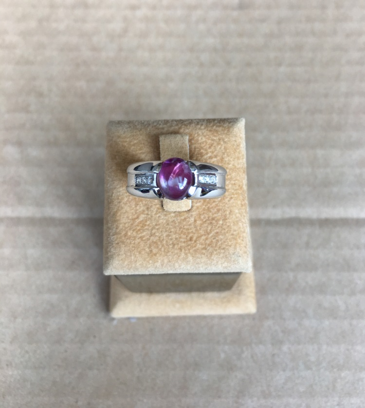 Ruby Cabochon Gents Ring